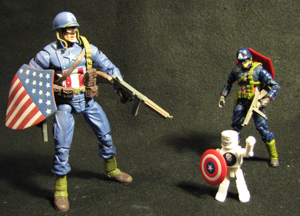 Captain America: The First Avenger WWII Cap and Marvel Legends WWII Cap