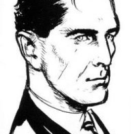 Ian Fleming's sketch of how he imagined James Bond