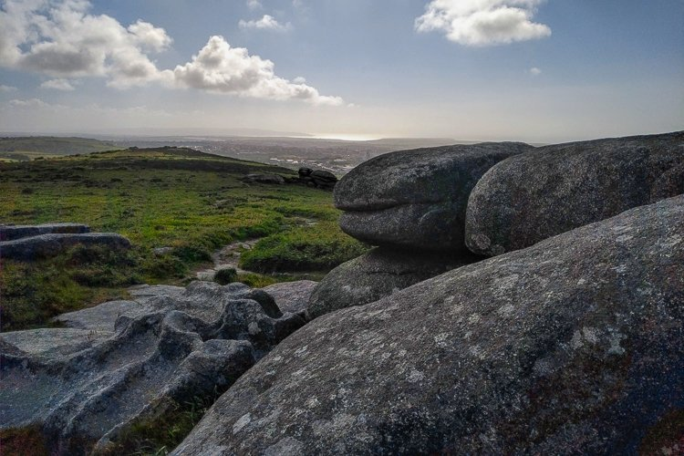 Veiw From Carn Brea Monument to St Ives