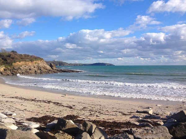 View of Swanpool Beach towards Falmouth. Cornwall, UK. Copyright Stephanie Boon, 2018. All rights Reserved.