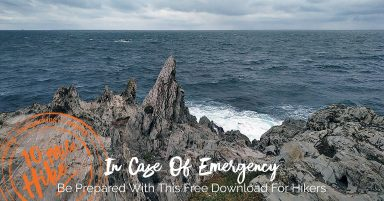 Featured Image: In Case Of Emergency Be Prepared With This Free Download For Hikers. Image of dramatic, sharp rocks at Morte Point in Devon, UK.