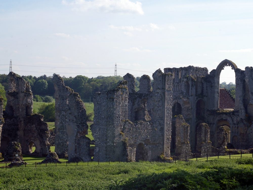 The ruins of Castle Acre Priory, Peddars Way National Trail, Norfolk, UK, 2018. Copyright Stephanie Boon, 2018. All Rights Reserved.