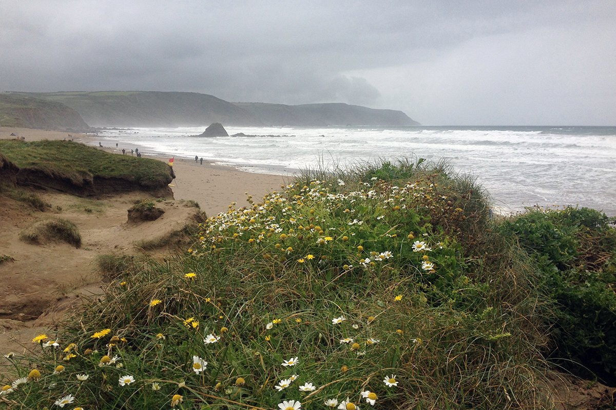 Widemouth Bay, South West Coast Path, North Cornwall. Copyright Stephanie Boon, 2017. All Rights Reserved