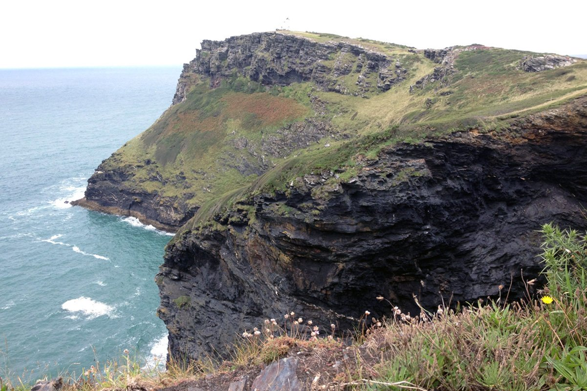 Cliffs at Boscastle, South West Coast Path, North Cornwall. Copyright Stephanie Boon, 2017. All Rights Reserved.