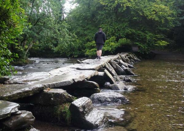 Tarr Steps medieval clapper bridge