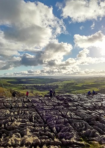 Malham Cove, a view from the top