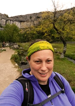 Hike in the north west of England - Sarah James in the Yorkshire Dales
