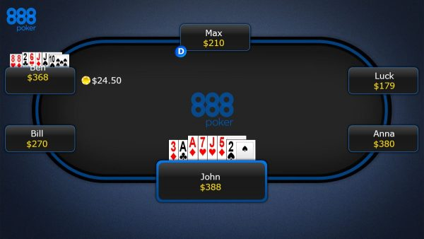 888 poker - 7 card