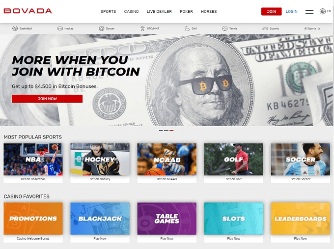 Bovada casino Instant withdrawals