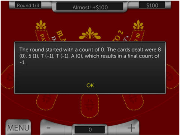 Card Counting app