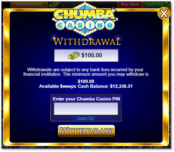 Chumba Casino deposits