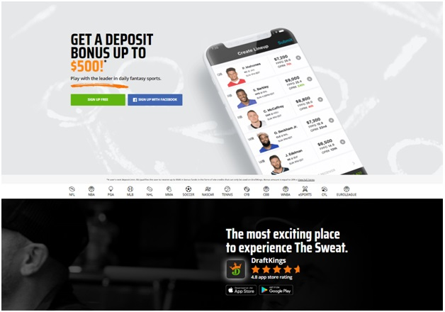 Guide to 10 mobile sports betting bookies- Draftsking