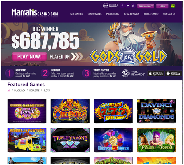 Guide to play slots at Harrah's online casino