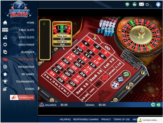 Liberty Slots Casino- Table games