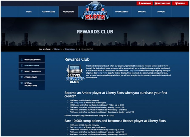 Liberty slots- Loyalty Program