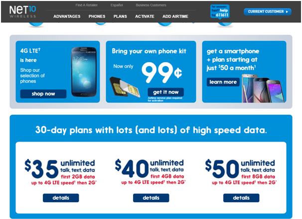 Net10Wireless-Prepaid plans