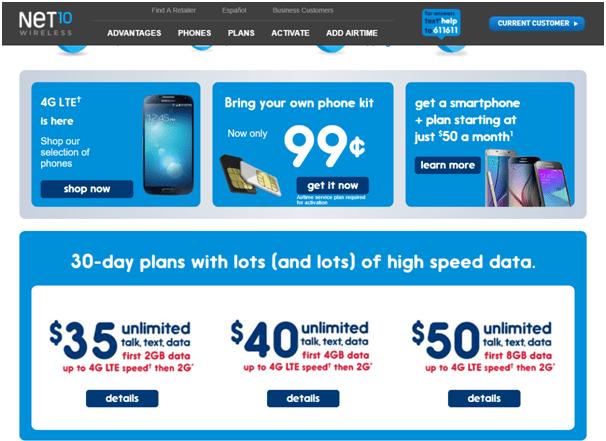 Net10Wireless-Prepaid plans