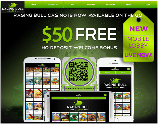 Raging Bull US No Deposit Bonus