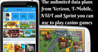 The unlimited data plans from Verizon, T-Mobile, AT&T and Sprint you can use to play casino games
