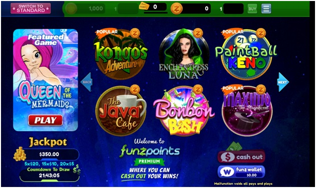 play at Funzpoints Casino to win real cash- Slot games