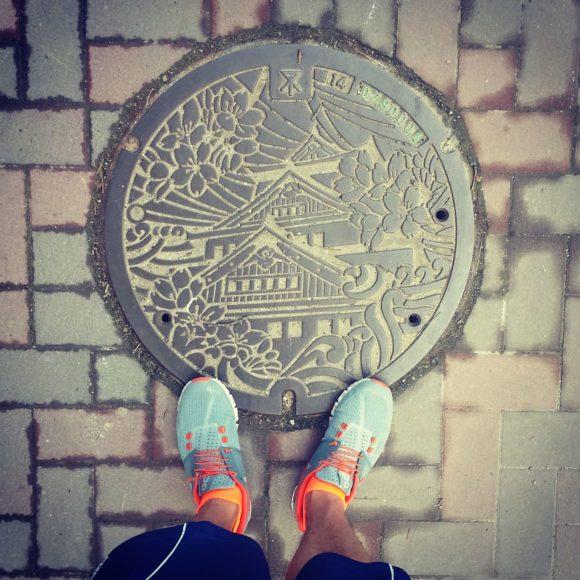 Osaka Castle Manhole Cover