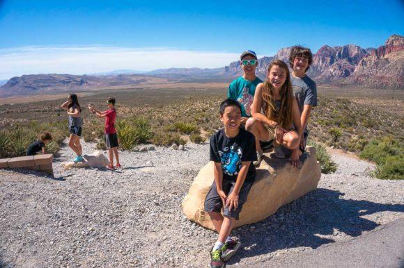 At Red Rock Canyon