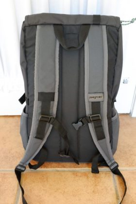 Jansport Hatchet Backpack in Grey Tar (Back)