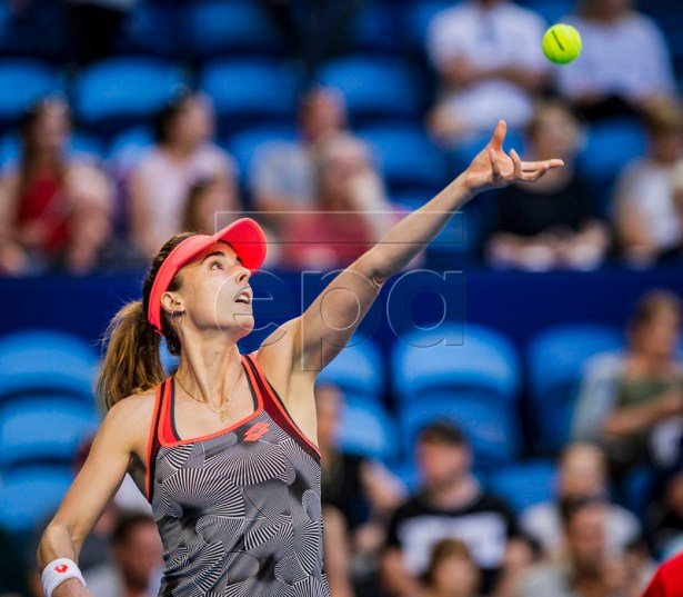 Alize Cornet of France during the women's singles match between Australia and France on day 1 of the Hopman Cup tennis tournament at RAC Arena in Perth, Australia, 29 December 2018.  EPA-EFE/TONY MCDONOUGH  AUSTRALIA AND NEW ZEALAND OUT
