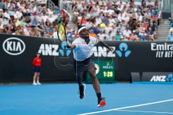 Frances Tiafoe of the USA in action during his round three men's singles match against Andreas Seppi of Italy at the Australian Open Grand Slam tennis tournament in Melbourne, Australia, 18 January 2019.  EPA-EFE/RITCHIE TONGO
