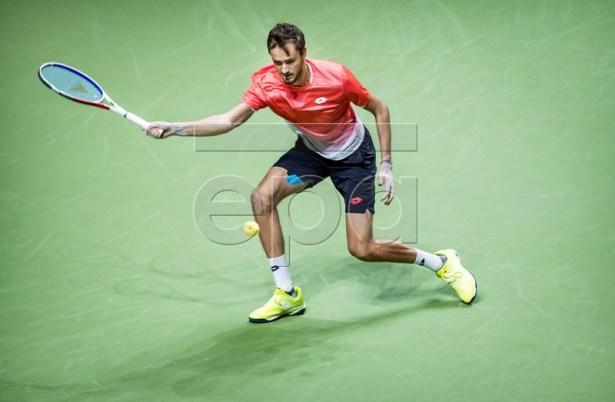 Daniil Medvedev (RUSSIA) during the semi-final against Gael Monfils (FRANCE) at the ABN AMRO World Tennis Tournament in Rotterdam, The Netherlands, 16 February 2019. EPA-EFE/KOEN VAN WEEL