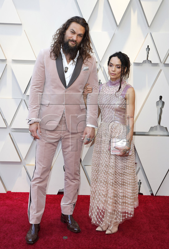 Jason Momoa (L) and Lisa Bonet (R) arrive for the 91st annual Academy Awards ceremony at the Dolby Theatre in Hollywood, California, USA, 24 February 2019. The Oscars are presented for outstanding individual or collective efforts in 24 categories in filmmaking.  EPA-EFE/ETIENNE LAURENT