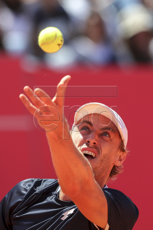 John Millman of Australia in action during his second round match against Joao Domingues of Portugal at the Estoril Open tennis tournament in Cascais, near Lisbon, Portugal, 01 May 2019.  EPA-EFE/JOSE SENA GOULAO  EPA-EFE/JOSE SENA GOULAO