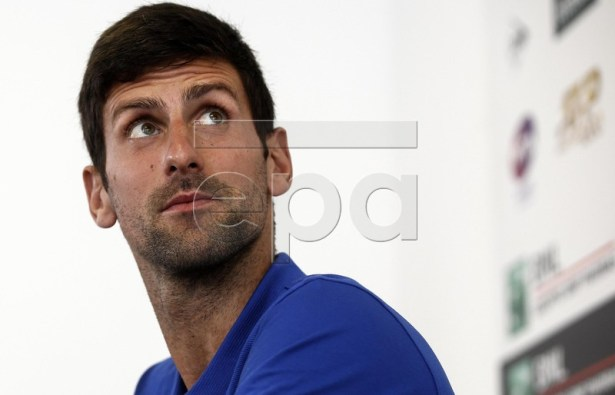 Novak Djokovic of Serbia attends a press conference during the Italian Open tennis tournament in Rome, Italy, 14 May 2019. EPA-EFE/RICCARDO ANTIMIANI