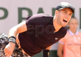 Borna Coric of Croatia plays Aljaz Bedene of Britain during their men?s first round match during the French Open tennis tournament at Roland Garros in Paris, France, 27 May 2019.  EPA-EFE/CAROLINE BLUMBERG