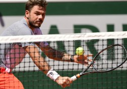 Stan Wawrinka of Switzerland plays Stefanos Tsitsipas of Greece during their men?s round of 16 match during the French Open tennis tournament at Roland Garros in Paris, France, 02 June 2019. EPA-EFE/CAROLINE BLUMBERG