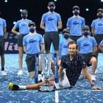 Medvedev Ends Season on 10-match Winning Streak after Outlasting Thiem for London ATP Finals title
