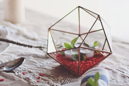 Adorable gift idea for home decor lovers  handmade geometric     Adorable gift idea for home decor lovers  handmade geometric planters and  candle holders