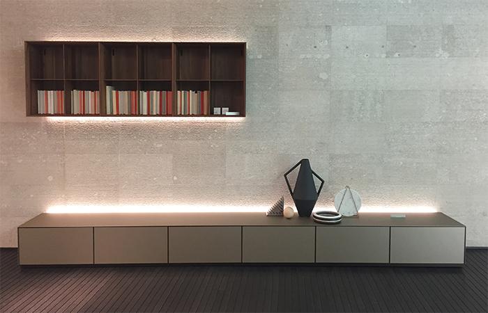 meuble tv self 384 cm l verre acide palladio
