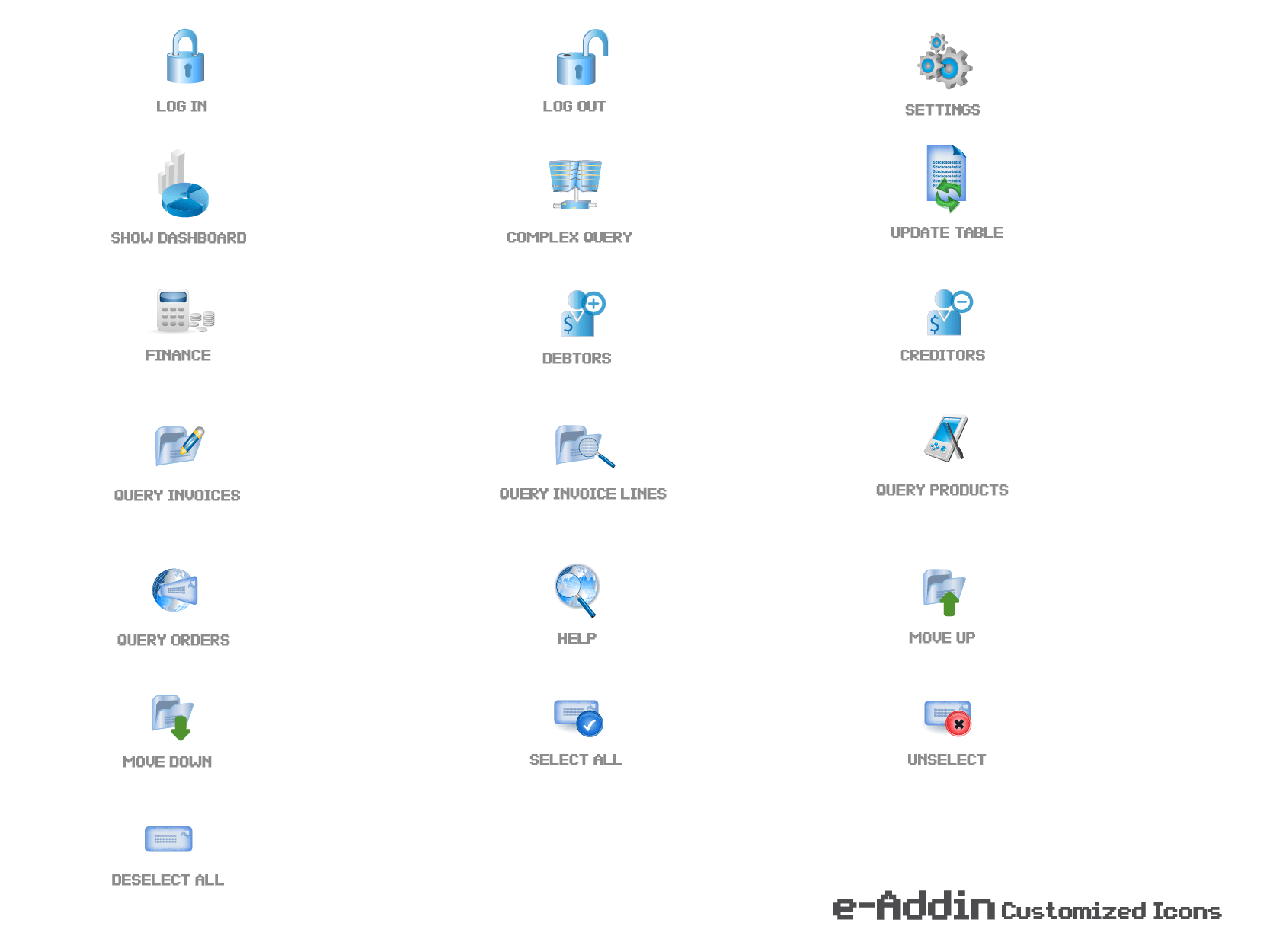 19 Icons For An Excel Add In