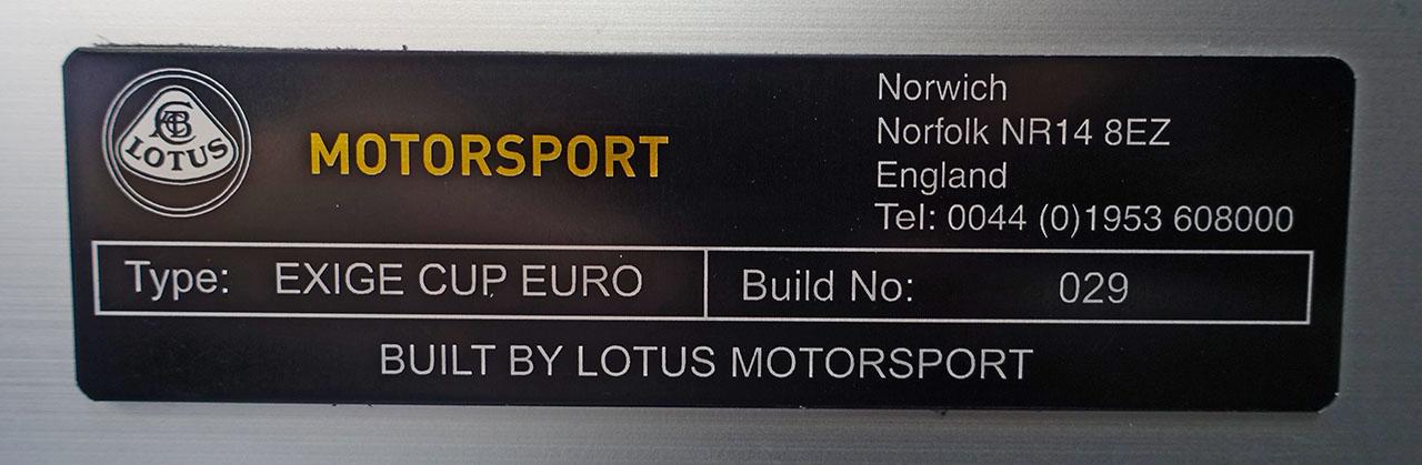 Lotus Exige V6 Cup EURO