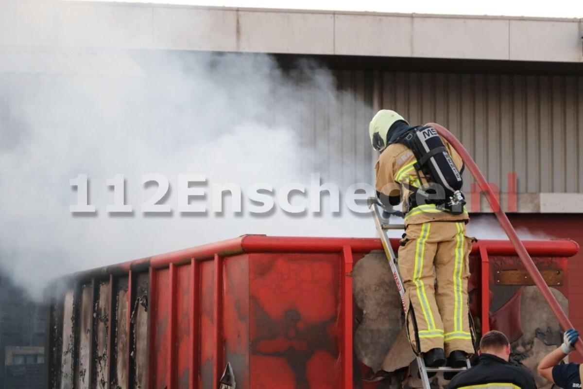 Brand bij bedrijf Transportcentrum Enschede