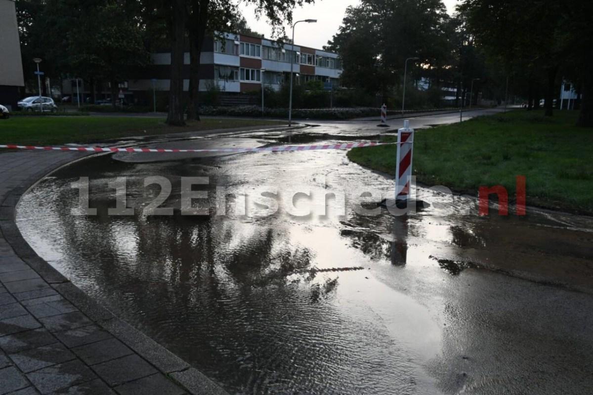 Grote waterlek in Enschede
