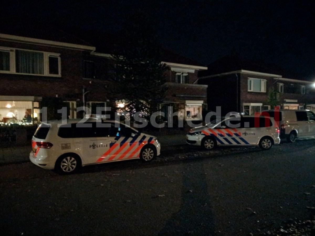 Politie en recherche onderzoeken insluiping in Enschede