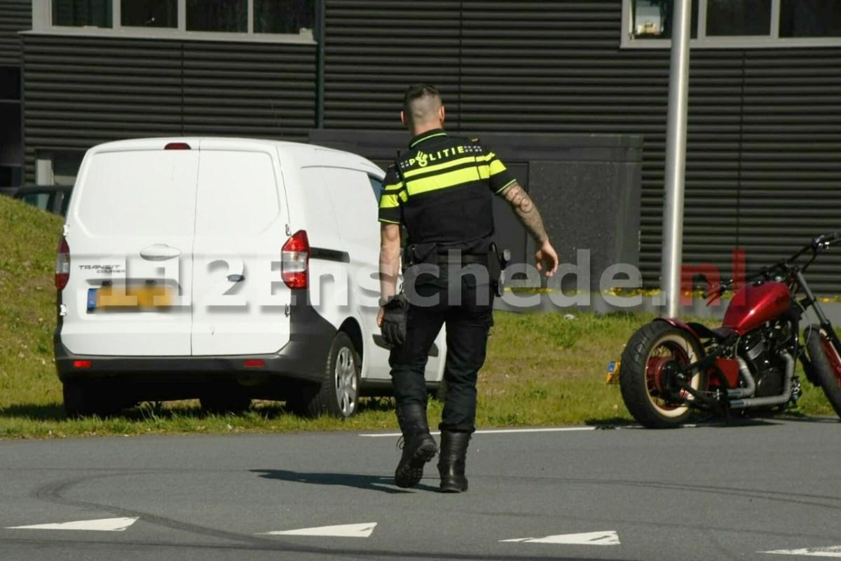 Motorrijder gewond na ongeval in Enschede