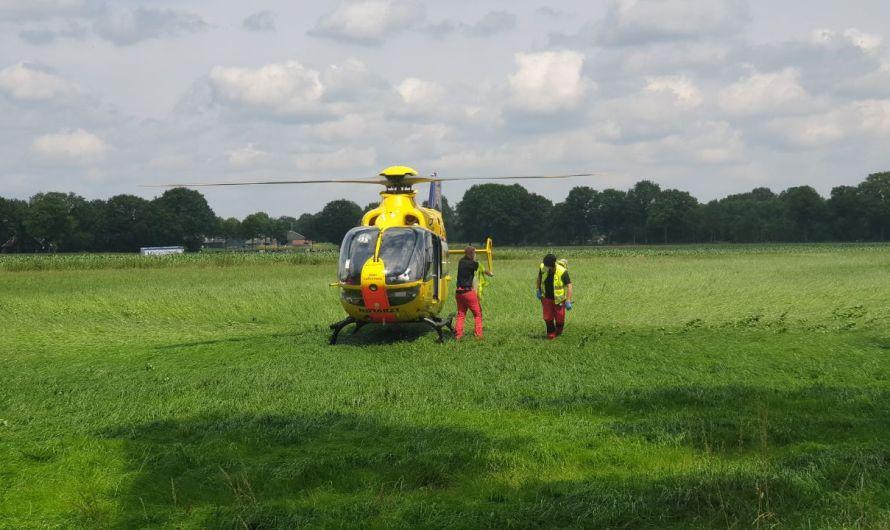 Ernstige aanrijding op de N732 bij Losser, traumahelikopter ingezet