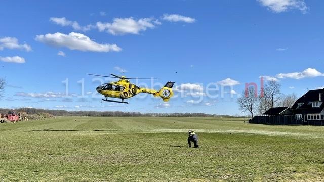 Ernstig ongeval op bouwplaats Reutum; traumahelikopter ingezet