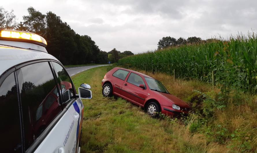 Automobilist belandt in sloot Reutum