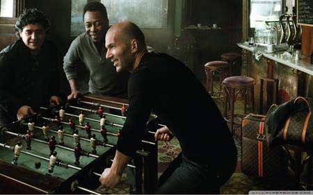 encourage attachment - Pele Maradona Zidan enjoying a game tables