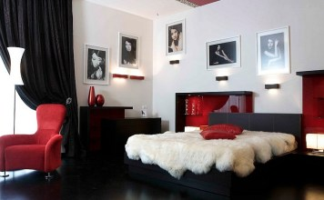 romantic red and black bedrooms
