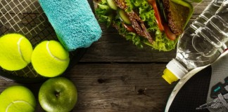 pre workout - healthy-life-sport-concept-sneakers-with-tennis-balls-towel-apples-healthy-sandwich-and-bottle-of-water-on-wooden-background-copy-space-above_1220-14215 Easy to Follow Pre-workout Nutrition Tips